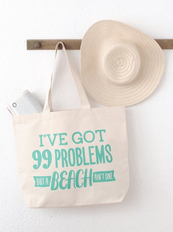 99 Problems Canvas Bag | Beach Bags | Alphabet Bags