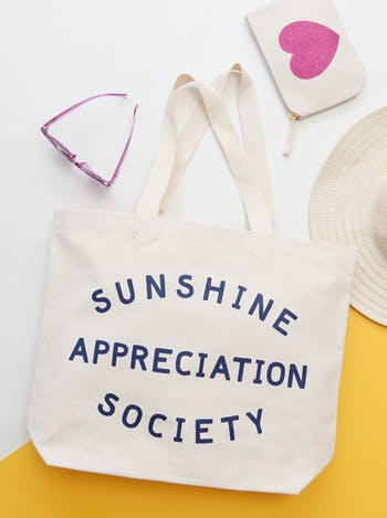 Sunshine Appreciation Society Canvas Bag | Beach Bags | Alphabet Bags