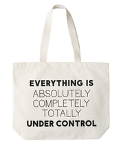 Under Control - Big Canvas Tote Bag