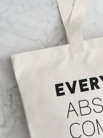 Under Control Large Canvas Bag | Canvas Tote Bag | Alphabet Bags
