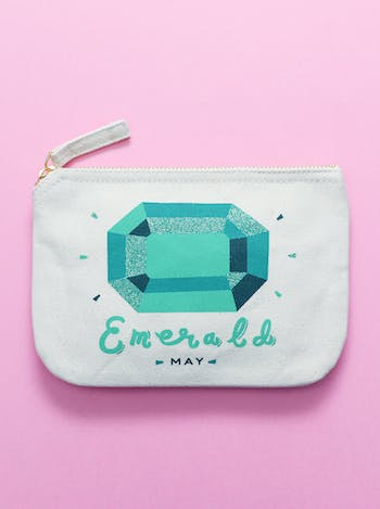 Emerald / May - Birthstone Pouch - Second