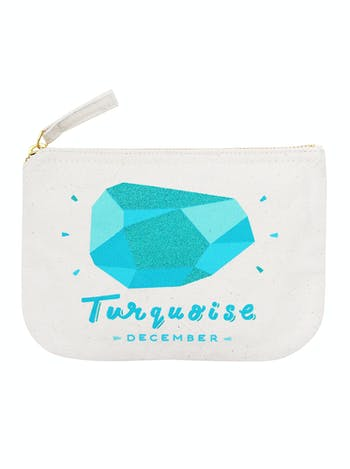 Turquoise / December - Birthstone Pouch - Second