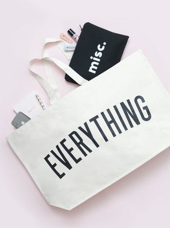 Misc Black Pouch | Unique Gifts for New Mums | Alphabet Bags