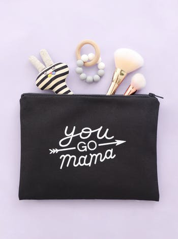 You Go Mama Embroidered Pouch | Unique Gifts for New Mums | Alphabet Bags