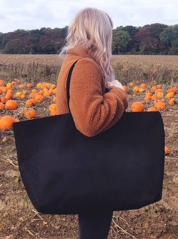 Black Canvas Really Big Bag | Oversized Totes | Alphabet Bags