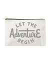 Let the Adventure Begin - Large Canvas Pouch