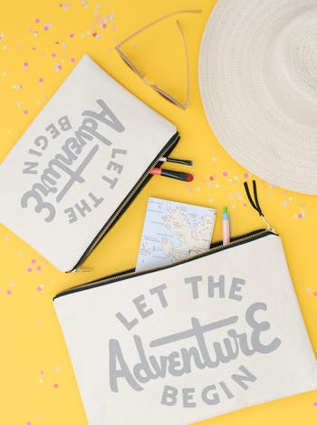 Let The Adventure Begin | Travel Wallet | Alphabet Bags