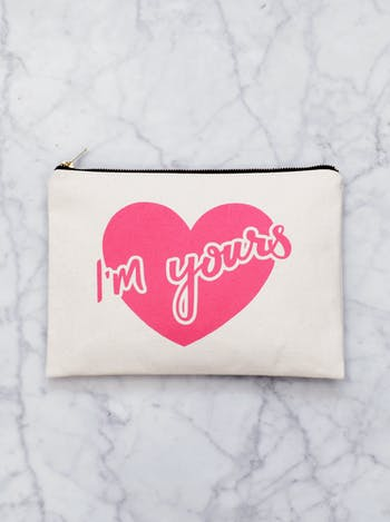 I'm Yours Canvas Pouch | Valentines Gifts For Her | Alphabet Bags