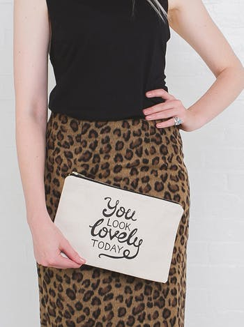 You Look Lovely Today | Cosmetics Pouch | Alphabet Bags