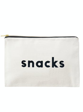 Snacks - Large Canvas Pouch