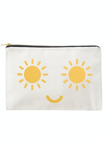 Sunshine Eyes - Large Canvas Pouch