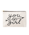 You Go Girl - Large Canvas Pouch