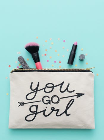 You Go Girl | Canvas Zip Clutch | Alphabet Bags