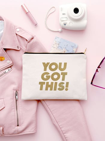 You Got This | Canvas Clutch Bag | Alphabet Bags