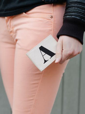 Initial Card Holder | Personalised Travel Card Holder | Alphabet Bags