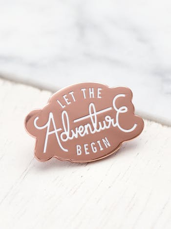 Adventure Enamel Pin | | Hard Enamel Pins | Alphabet Bags