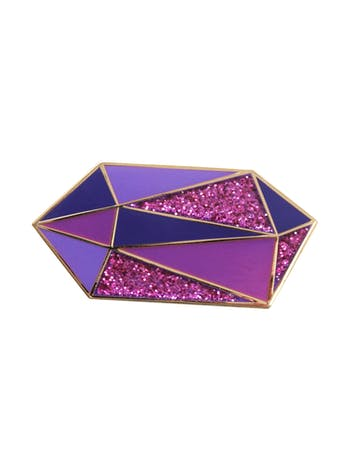 Amethyst Birthstone Pin | Birthday Gift | Alphabet Bags