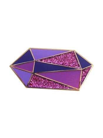 Amethyst Gemstone Pin | Birthday Gift | Alphabet Bags