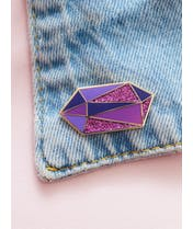 Amethyst - Gemstone Pin