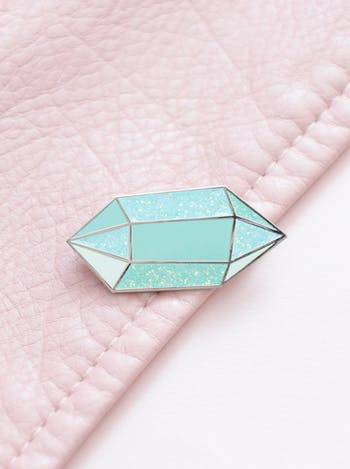 Aquamarine Birthstone Pin | Birthday Gift | Alphabet Bags