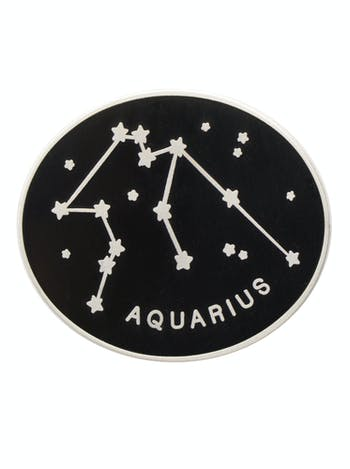 Aquarius Zodiac Enamel Pin | Birthday Gifts | Alphabet Bags