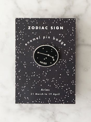 Aries Zodiac Enamel Pin | Birthday Gifts | Alphabet Bags