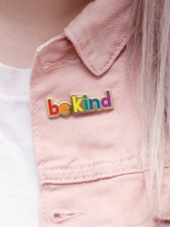 Be Kind - Enamel Pin - Second