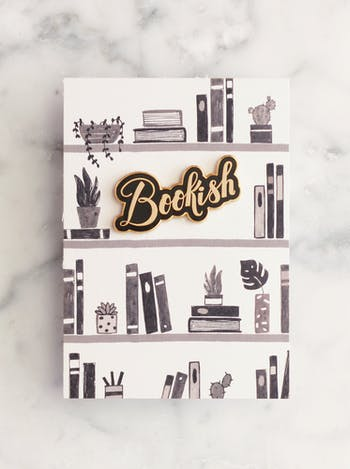 Bookish | Enamel Pin | Alphabet Bags