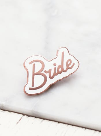 Bride Enamel Pin | Hen Party Favours | Alphabet Bags