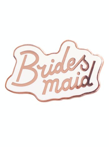 Bridesmaid Enamel Pin | Hen Party Favours | Alphabet Bags