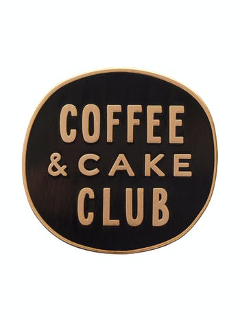 Coffee & Cake Club | Enamel Pin | Alphabet Bags