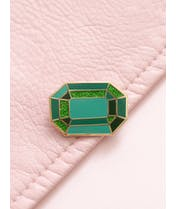 Emerald  - Gemstone Pin