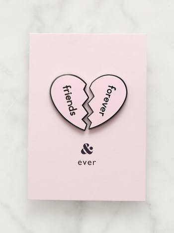 Friends Forever Pin Set | Enamel Pin Set | Friendship Jewellery | Alphabet Bags