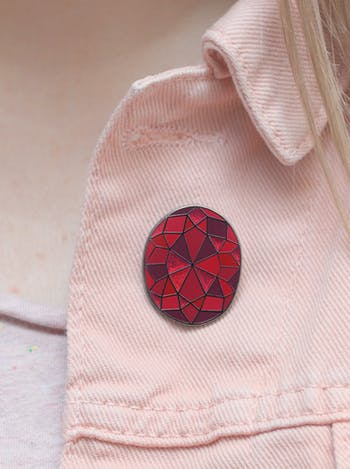Garnet Gemstone Pin | Birthday Gift | Alphabet Bags