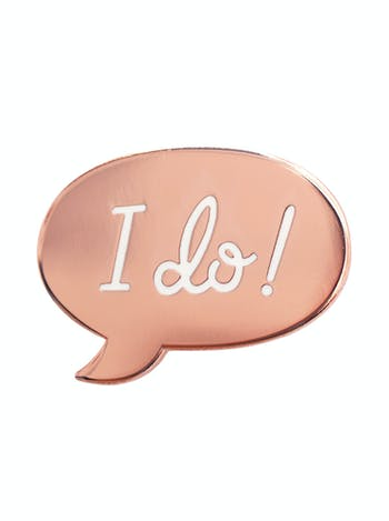 I Do Enamel Pin | Engagement Gift | Alphabet Bags