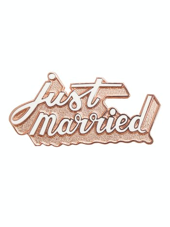 Just Married Enamel Pin | Honeymoon Gift | Alphabet Bags