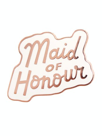 Maid of Honour Enamel Pin | Hen Party Favours | Alphabet Bags