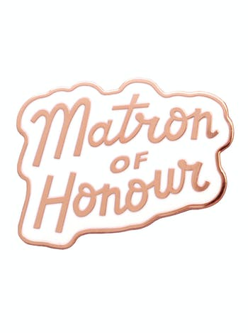 Matron of Honour Enamel Pin | Hen Party Favours | Alphabet Bags