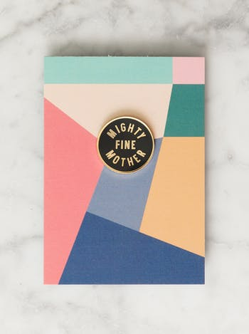 Mighty Fine Mother Enamel Pin | Gifts for Mothers | Alphabet Bags