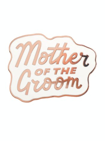 Mother of the Groom Enamel Pin | Hen Party Favours | Alphabet Bags