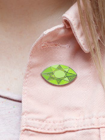 Peridot Gemstone Pin | Birthday Gift | Alphabet Bags