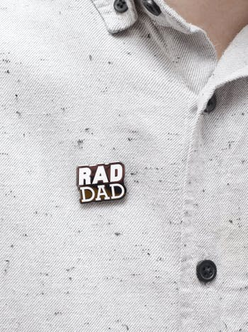 Rad Dad Enamel Pin | Father's Day Gift | Alphabet Bags