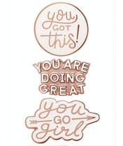 Motivational Enamel Pin Set