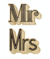 Mr/Mrs - Enamel Pin Set - Second