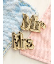 Mr/Mrs - Enamel Pin Set