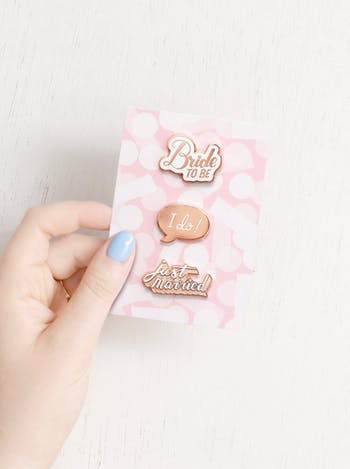 3 Wedding Pin Set | Token Wedding Gift | Alphabet Bags