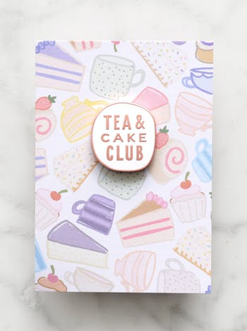 Tea & Cake Club | Enamel Pin | Alphabet Bags