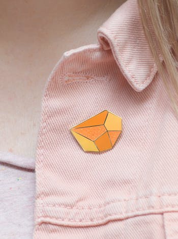 Topaz Birthstone Pin | Birthday Gift | Alphabet Bags