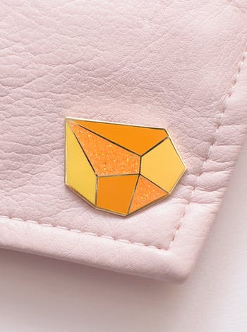 Topaz Gemstone Pin | Birthday Gift | Alphabet Bags