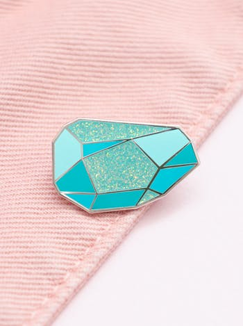 Turquoise Gemstone Pin | Birthday Gift | Alphabet Bags